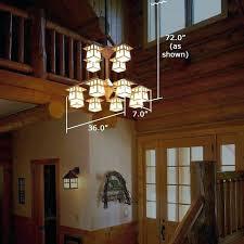 chandelier hight