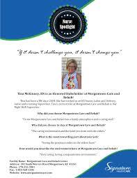 Nursing Spotlight Morgantown Care Rehabilitation Center