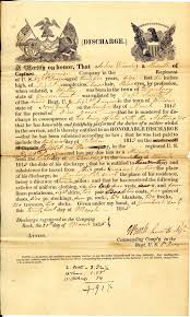 discharge certificates such as this one for john warring of connecticut provide succinct detailed summaries of military service records of the adjutant