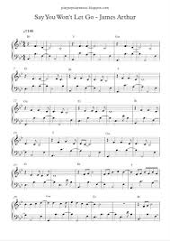 say you won t let go sheet music play popular music say you wont let go james arthur free piano