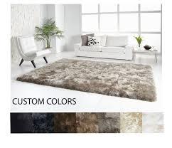 fibre by auskin sheepskin rug straight edge 4 x 6