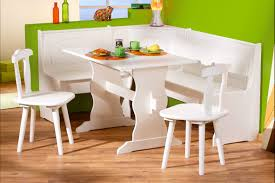 Painted Round Kitchen Table Painted White Wooden Kitchen Table And Chairs With Bench And