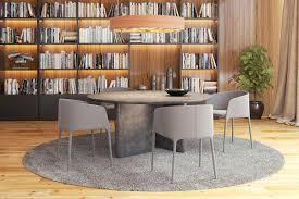round stone dining table interior design ideas