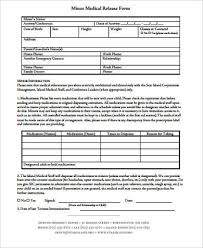 Printable Medical Release Form For Children