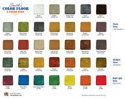 Concrete Floor Color Chart Smiths Color Floor Bright Lights Series Colors
