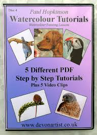 learn to paint in watercolour 5 pdf tutorials cd no4 watercolor tutorials step by step