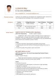 j Personal summary LUSHYA RAJ B.Tech CIVIL ENGINEER Mob:+918606261737 ,  Email ...