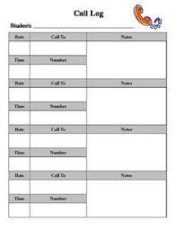 Phone Call Log Template Phone Call Log Form Template Download