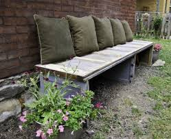 Outdoor: Beautiful DIY Cinder Block Bench - Outdoor Bench