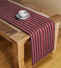 stripe pattern maroon cotton 72x12