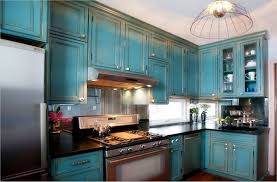 diy black distressed kitchen cabinets