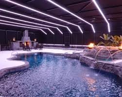 image of led light fixtures pool