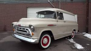 All Chevy chevy apache 1957 : 1957 Chevrolet 1/2 ton Panel Van, Restored and RARE for Sale - YouTube
