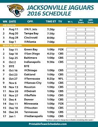 Printable Jaguars Schedule 2018 Download Them Or Print
