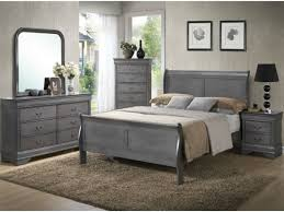 Lifestyle Solutions Bedroom Furniture Lifestyle 4934 Louis Philippe Gray 5 Pc King Bedroom Set