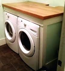 laundry room countertop over washer dryer ideas 9