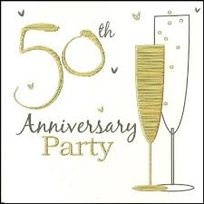 50th Anniversary Party Invitations 50th Golden Wedding Anniversary Party Invitations Holographic 6 Cards With Envelopes
