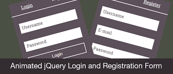 Free Download Animated Jquery Login And Registration Form