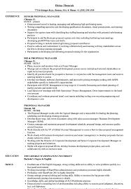Proposal Manager Resume Samples Velvet Jobs