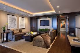 cove lighting design. Cove Lighting Design Ideas Family Room Contemporary With Wood Paneling Ceiling Tray