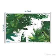 Großhandel Vinyl Wasserdicht Baum Blatt Wandaufkleber Pflanze