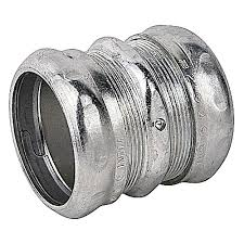 Thomas Betts Tk116a Zinc Plated Steel Emt Compression Coupling 2 Inch Steel City