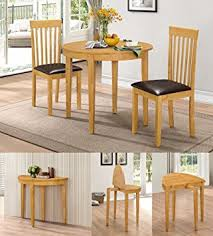 hgg dining table set with 2 chairs rubberwood furniture small table and 2 chairs