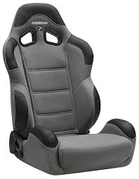 corbeau cr1 reclining racing seat standard seat w gray cloth