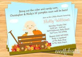 Pumpkin Invitations Template Fall Baby Shower Invitations Pumpkin Baby Shower Invitations