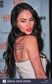 Megan Fox Tattoo Stock Photos Megan Fox Tattoo Stock Images Alamy