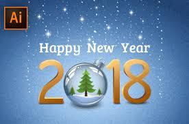 Adobe Illustrator Tutorial Happy New Year Greeting Card