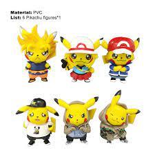 Mô Hình Nhân Vật Hoạt Hình Pokemon 6 Món Bộ Sưu Tập Phim Hoạt Hình Thu Nhỏ  PVC Nhỏ, Đồ Chơi Trẻ Em   Mô hình nhân vật