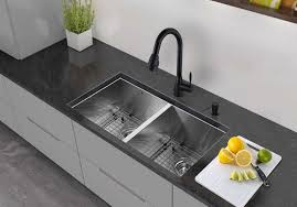 vigo 32 inch undermount double basin stainless steel sink