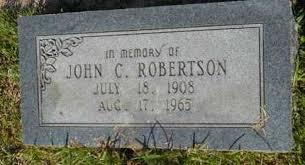 ROBERTSON, JOHN C - Columbia County, Arkansas | JOHN C ROBERTSON - Arkansas  Gravestone Photos