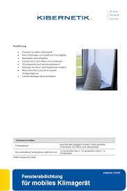 Fensterabdichtung Kibernetik Für Mobiles Klimagerät 011079