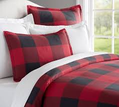 buffalo check duvet cover sham red black pottery barn within navy and inspirations 16