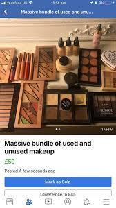 used and unused makeup