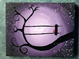 Easy paintings on canvas Diy Tree Painting Easy Easy Acrylic Paintings Canvas Pictures To Paint Painting Whimsical Tree With Swing Tree Painting Easy Tree Painting Easy Easy Acrylic Canvas Painting Ideas For Beginners