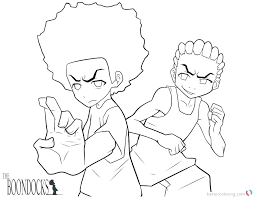 the boondocks coloring pages w5671 the boondocks coloring pages boondocks coloring pages freeman brothers printable free
