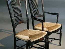interesting idea rush seat chairs custom black fan back style dining with by