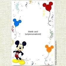 Mickey Mouse Birthday Invitation Free Completepetz Club