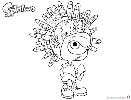 Splatoon 2 Coloring Pages At Getdrawingscom Free For Personal Use