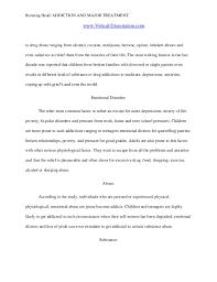 short essay on drug addiction