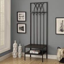 hall entry furniture. monarch hammered metal hall entry bench 72inch black furniture