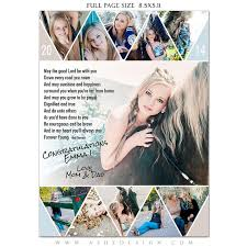Ad Page Templates Senior Yearbook Ads Photoshop Templates Pennant High