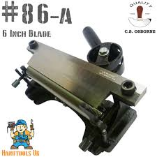 details about c s osborne 86a leather splitting machine skiver tapered skiving machine