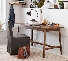 pottery barn bench style office desk rustic. Mateo Rustic Desk Pottery Barn Bench Style Office