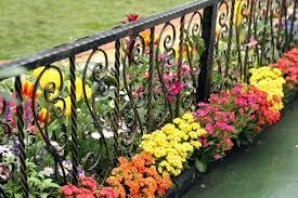 wrought iron garden fence a small custom wrought iron garden fence fabrication and