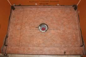 completed shower floor with kerdi membrane