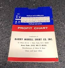 Barry Morell Shirt Co Nos Profit Chart Advertising 4 50